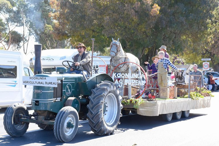 Jamie Nietschke was proud to be part of the Koonunga Agricultural Bureau's float which were runner up for the Best Constructed Float category.